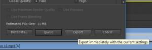 10 - clique em export