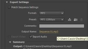 8 - clique em sequence 1 para escolher o nome do arquivo